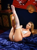SS0460S: Natalia Forrest sultry stocking striptease