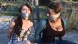 DEV & KARA - COUNTRY GIRL & CITY GIRL GAGGED BY WOMAN HUNTERS