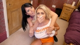 KATIE & RAVEN - BUXOM WAITRESS CHLORO & FONDLED BY OBSESSED ROOMMATE