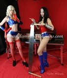 Wonder Lucy and Super Sarah Sawing