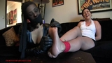 Leather gloves on soles