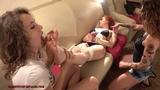Feet of a sleepy woman