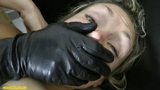 Against gloved women