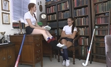 Jenny Strips & Torments Fellow Student Becky with Her Stinky Feet